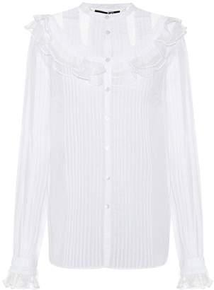 McQ Lace-embellished cotton shirt