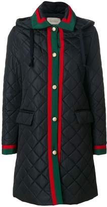 Gucci Web quilted coat