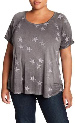 Cable & Gauge Metallic Star Patterned Tee (Plus Size)