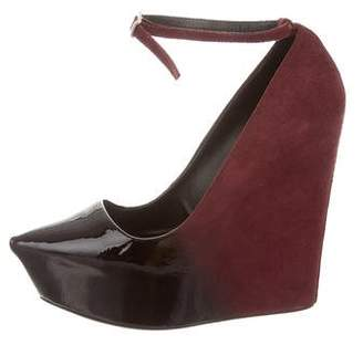 Theyskens' Theory Patent Leather Pointed-Toe Wedges