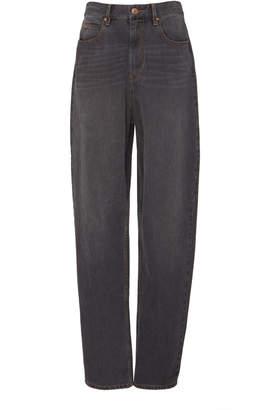 Etoile Isabel Marant Corsy High-Waisted Straight-Leg Jeans