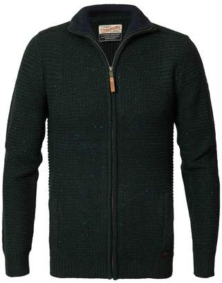 PETROL INDUSTRIES Full Zip Cardigan with High Neck