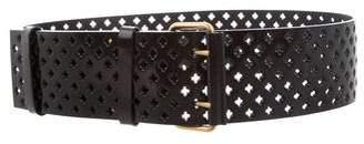 Saint Laurent Patent Leather Perforated Belt