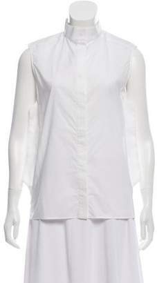 Paco Rabanne Sleeveless Button-Up Top
