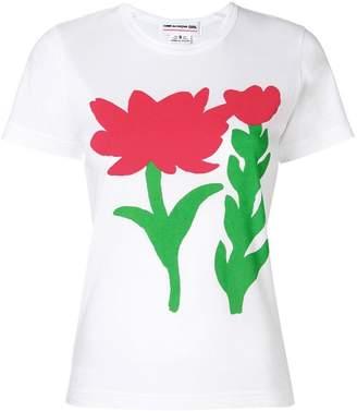 Comme des Garcons flower printed T-shirt