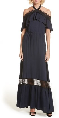Women's Alice + Olivia Mitsy Halter Maxi Dress $485 thestylecure.com