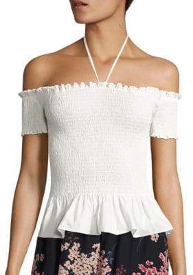 Rebecca Taylor Off-the-Shoulder Pop Top