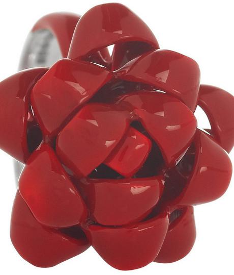 Solange Azagury-Partridge Ribbon enameled sterling silver ring