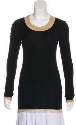 Dolce & Gabbana Mesh-Accented Long Sleeve Top