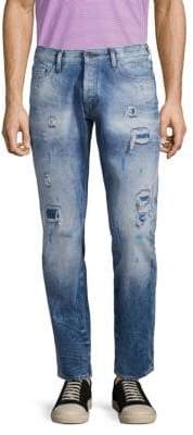 PRPS Distressed Tapered Relaxed-Fit Jeans
