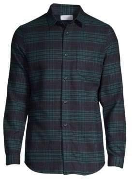 John Elliott Plaid Button-Front Shirt