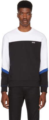 BOSS Black and White Salbo Colorblock Sweatshirt