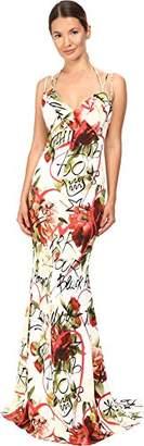 Philipp Plein Women's Floral Sleeveless Long Dress