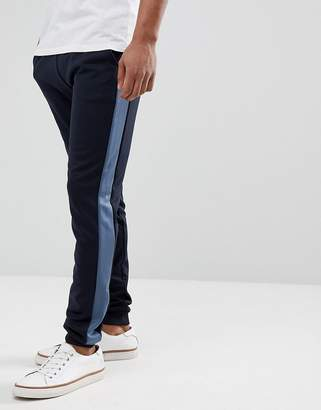 Farah Weatherall Tricot Joggers in Navy
