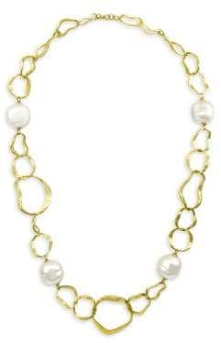Majorica 18K Gold-Plated Hammered Necklace