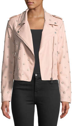 Bagatelle Pearlescent Faux-Leather Biker Jacket