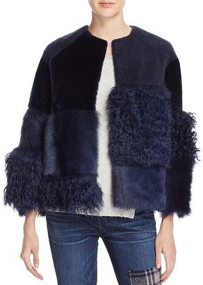 Whistles Patchwork Fur and Shearling Coat - 100% Bloomingdale's Exclusive $2,200 thestylecure.com