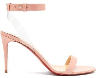 Christian Louboutin Jonatina 85 Patent Leather Sandals - Womens - Light Pink