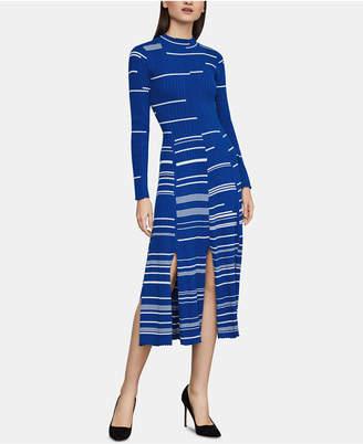 78b605d8c7 BCBGMAXAZRIA Cotton Pleated Sweater Dress