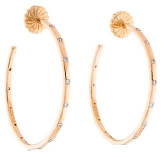 6bf56d5a7b972 Ippolita Diamond Hoop Earrings - ShopStyle