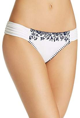 Lucky Brand Junior's Stitch in Time Side Sash Hipster Bikini Bottom