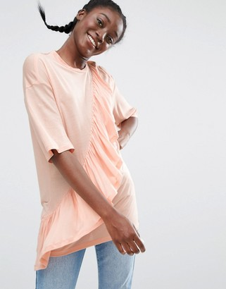 Monki Ruffle T-Shirt $38 thestylecure.com