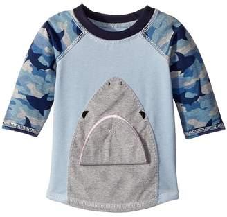 Mud Pie Camo Shark Rashguard Boy's Swimwear