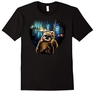 Star Wars Tree Village Wicket Ewok Graphic T-Shirt