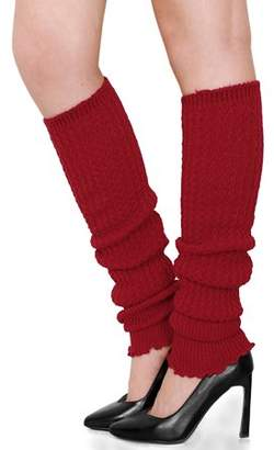Unique Bargains Womens Ribbed Design Toeless Over Knee Length Boot Cover Leg Warmers