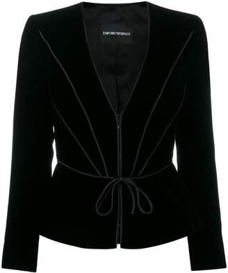 Emporio Armani waist-tied fitted blazer