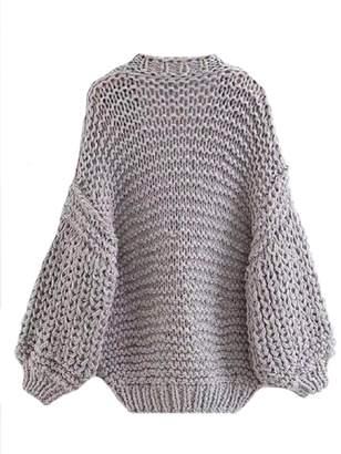 Goodnight Macaroon 'Berti' Chunky Knit Open Cardigan (5 Colors)
