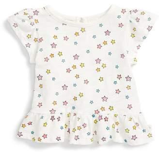 Rosie Pope Star Print Peplum Tee (Baby Girls 12-24M)