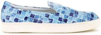 Diego Vanassibara tile print slip-ons