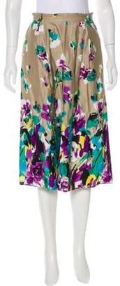 Max Mara Floral Knee-Length Skirt