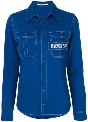 Givenchy logo-embroidered shirt