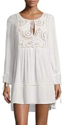 OndadeMar Eyelet Cotton Mini Dress