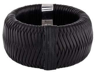 Christian Dior Woven Leather Bangle