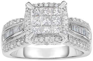 MODERN BRIDE 1 CT. T.W. Genuine Diamond 10K White Gold Princess-Cut Multi-Top Ring