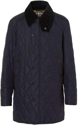 Burberry Detachable Hood Diamond Quilted Barn Jacket