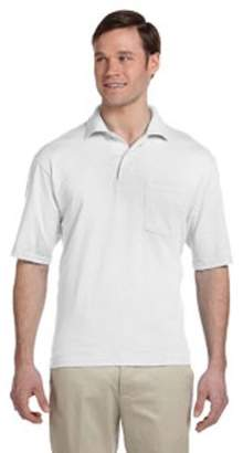 JERZEES Jerzees Adult 5.6 oz. SpotShield Pocket Jersey Polo