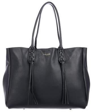 Lanvin Leather Fringe Shopper Tote