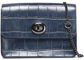 Coach Croc-effect Leather Shoulder Bag