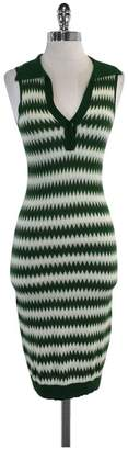 L.A.M.B. Green & White Sleeveless Collared Dress $148.99 thestylecure.com
