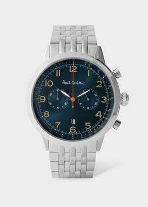 Paul Smith Men's Petrol And Stainless Steel 'Precision' Chronograph Watch