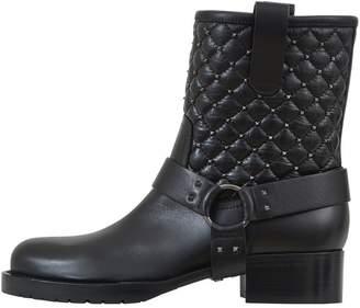Valentino Black Matelassé Boots