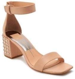 Dolce Vita Dorah Studded Leather Ankle-Strap Sandals