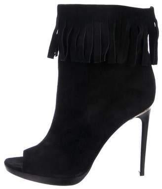 Burberry Suede High-Heel Boots