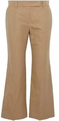 Brunello Cucinelli Cotton And Linen-Blend Twill Kick-Flare Pants