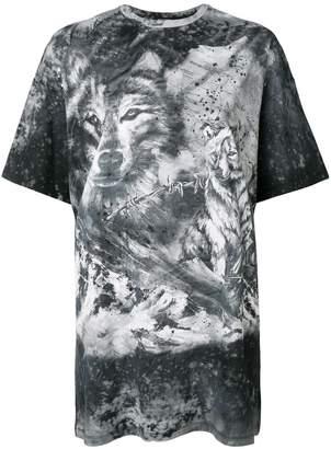 Balmain wolf and storm T-shirt