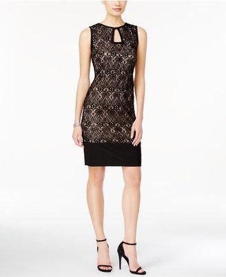R & M Richards Sleeveless Lace Keyhole Dress $79 thestylecure.com